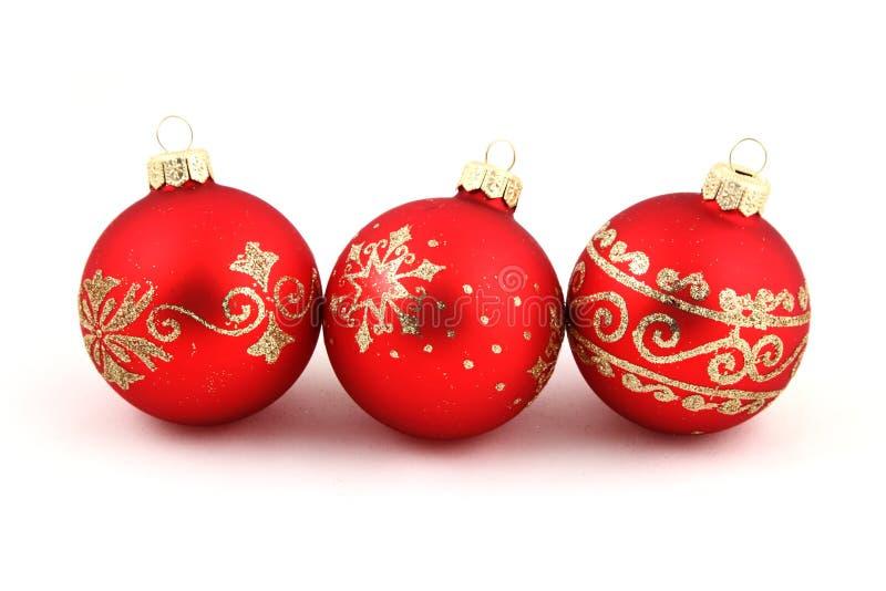 Bolas del rojo de la Navidad. imagen de archivo libre de regalías