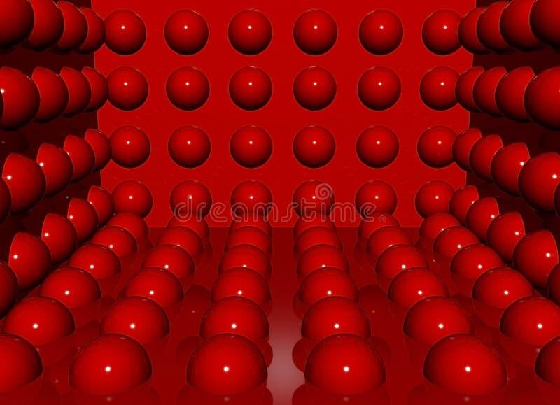 Bolas del rojo del encanto stock de ilustración
