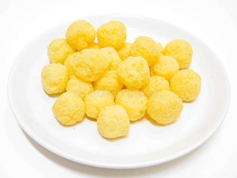 Bolas del soplo del queso. fotos de archivo