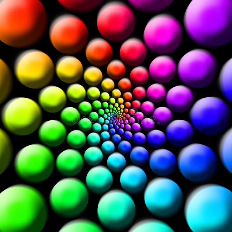 Bolas do arco-íris fotos de stock