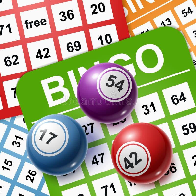 Bolas do Bingo em um fundo dos cart?es Ilustra??o do vetor ilustração do vetor
