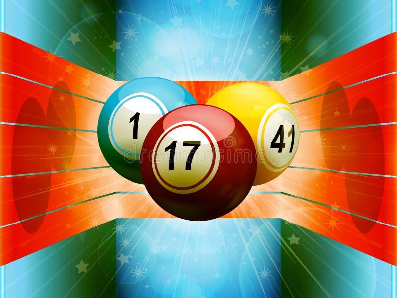 Bolas do Bingo no ambiente 3D colorido ilustração do vetor