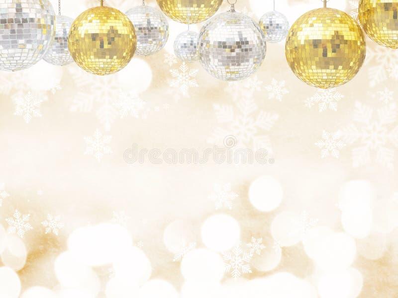Bolas do brilho do disco por feriados do Natal ou do ornamento do ano novo imagem de stock
