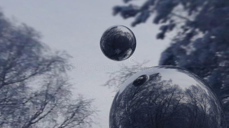 Bolas do espelho fotografia de stock royalty free