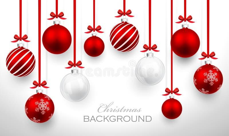 Bolas do Natal ilustração do vetor