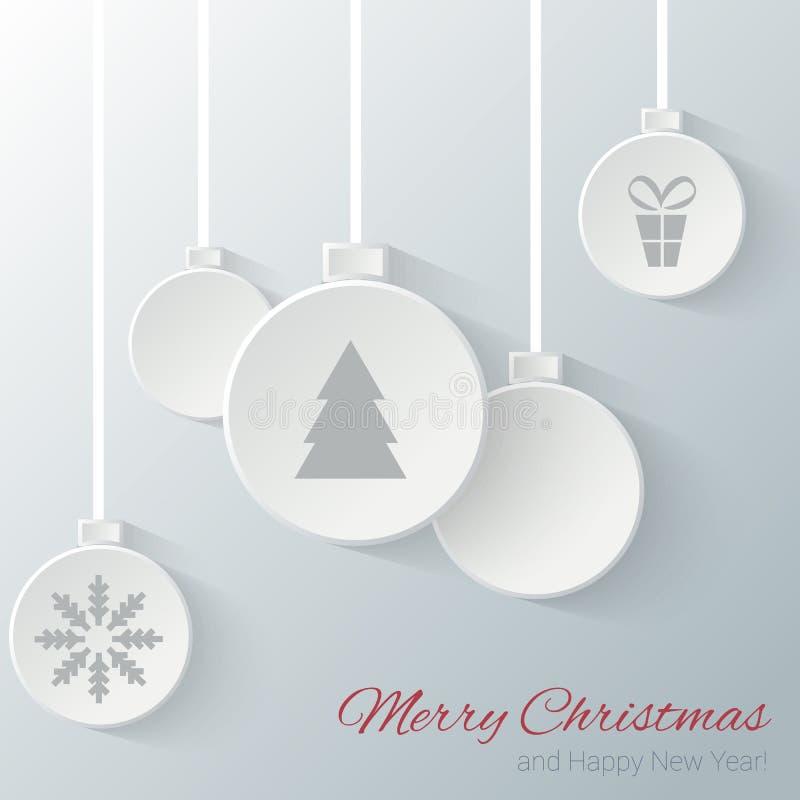 Bolas do Natal ilustração stock