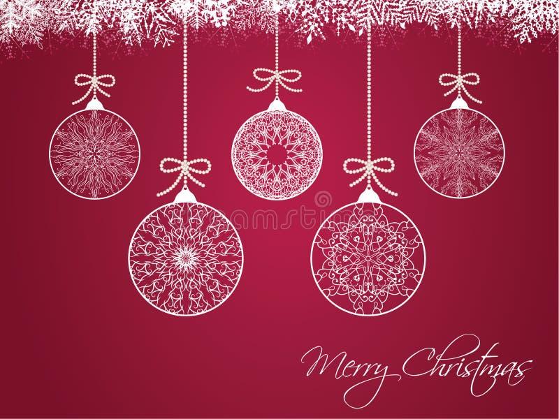 Download Bolas Do Natal No Fundo Colorido Ilustração do Vetor - Ilustração de esfera, christmas: 29836689