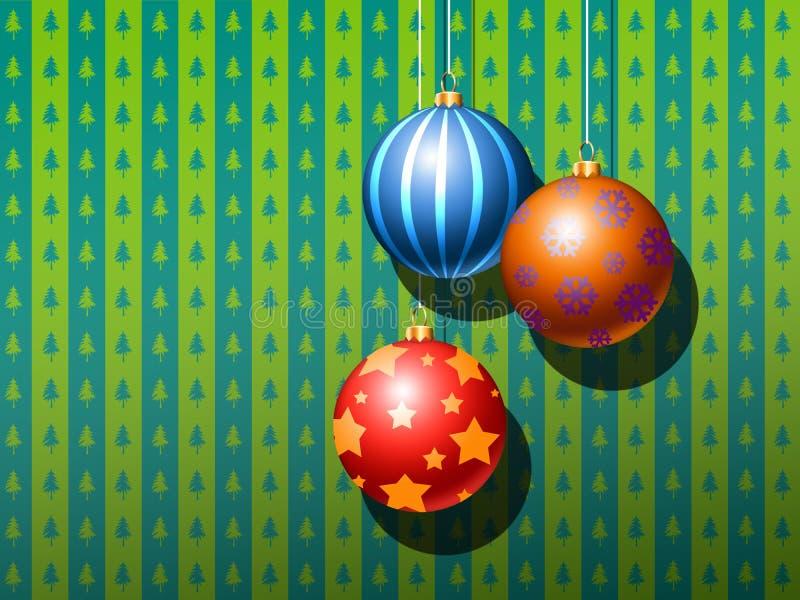 Bolas do ornamento do Natal ilustração do vetor