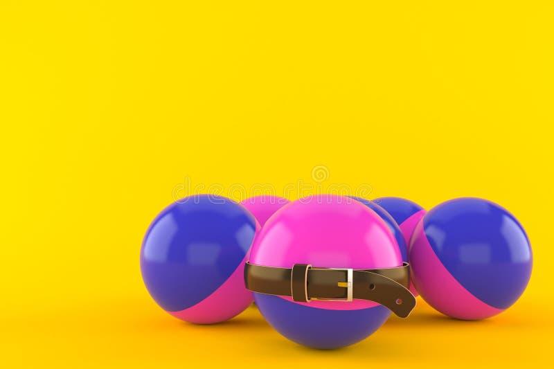 Bolas do Paintball com correia apertada ilustração stock