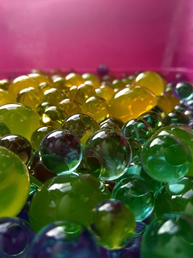 Bolas do polímero da água para crianças e decoração fotografia de stock royalty free