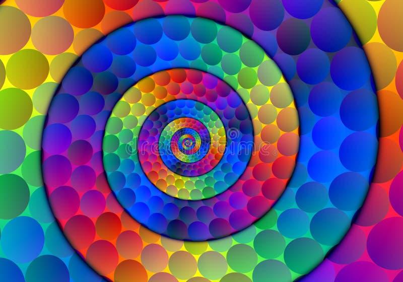 Bolas espirales imagen de archivo