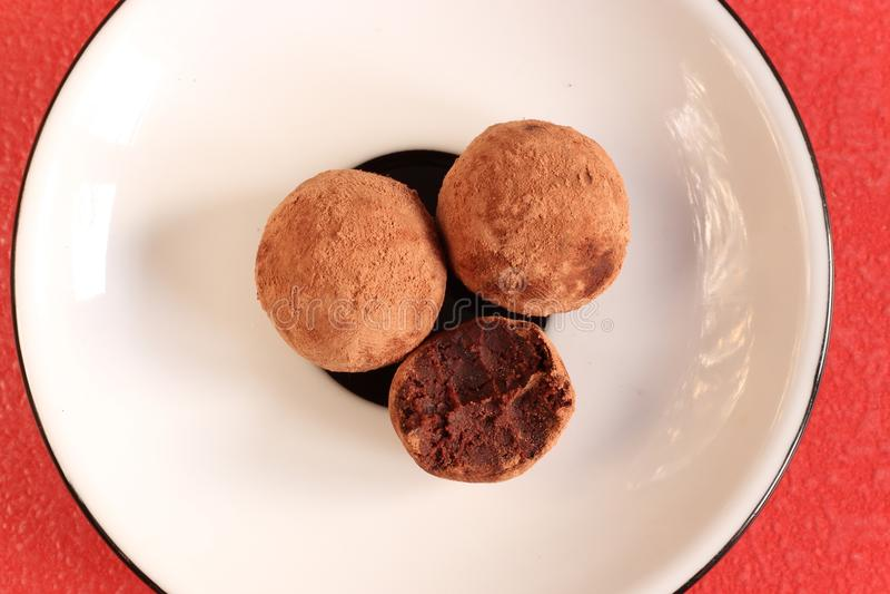 Bolas feitos a mão da data do vegetariano fotos de stock royalty free