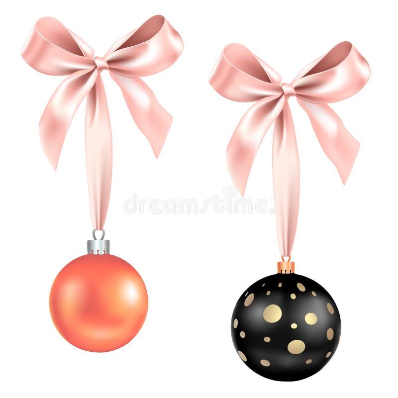 Bolas festivas set-01 stock de ilustración