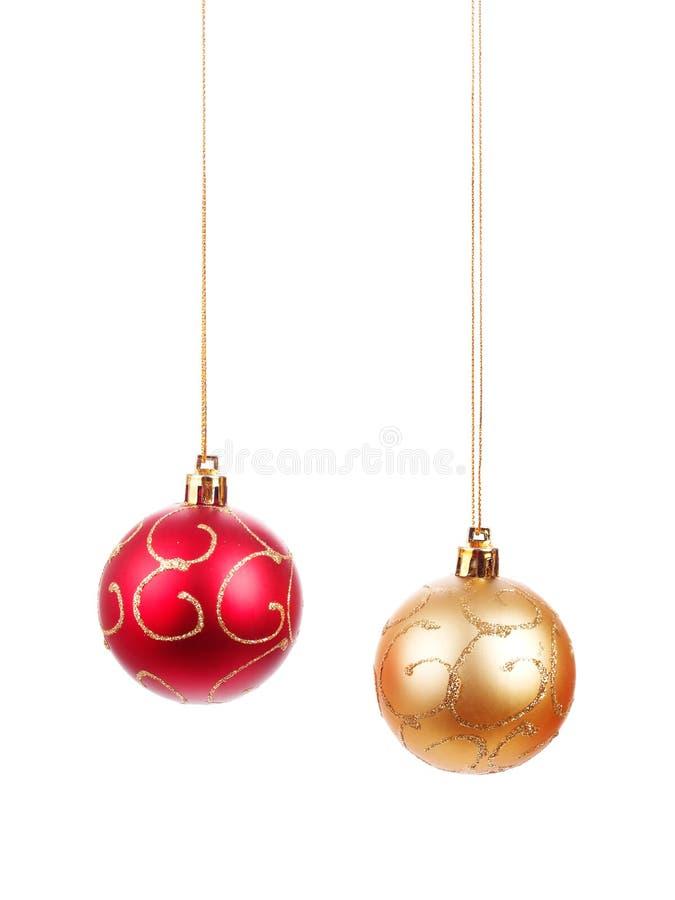 Bolas hermosas de la Navidad fotografía de archivo libre de regalías