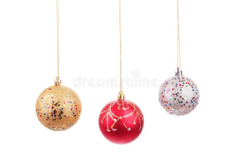 Bolas hermosas de la Navidad imagenes de archivo