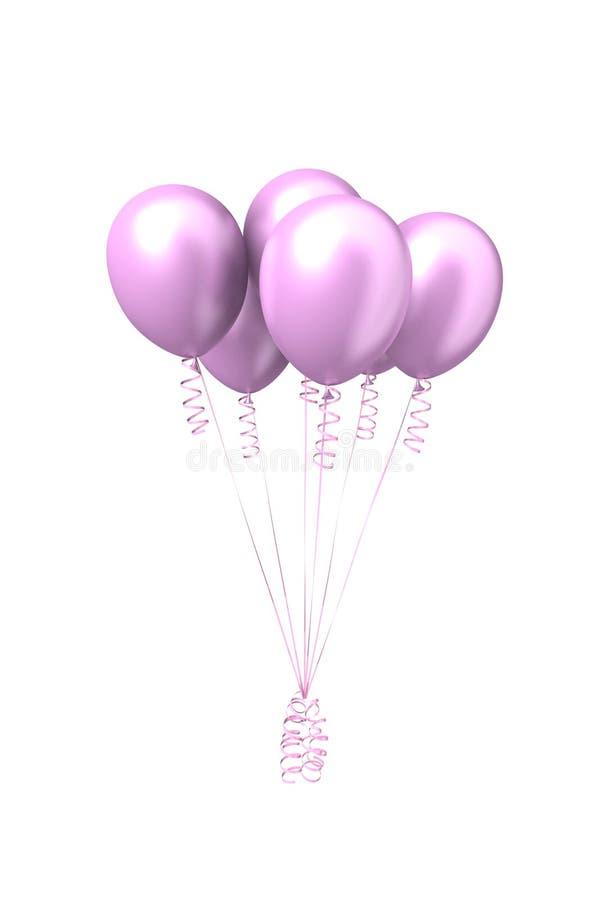 Bolas infláveis cor-de-rosa do ar foto de stock royalty free