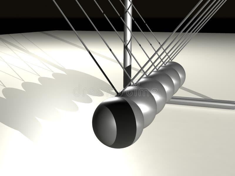 Bolas metálicas 2 stock de ilustración