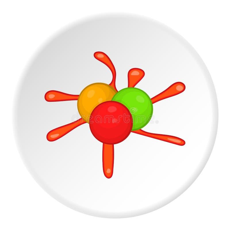 Bolas para o ícone do paintball, estilo dos desenhos animados ilustração royalty free