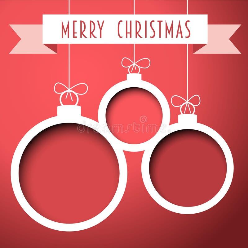 Bolas retros do Natal do vetor ilustração do vetor
