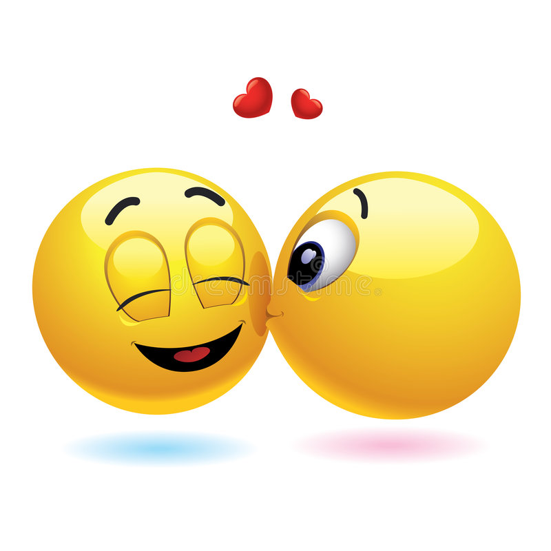 Bolas sonrientes stock de ilustración
