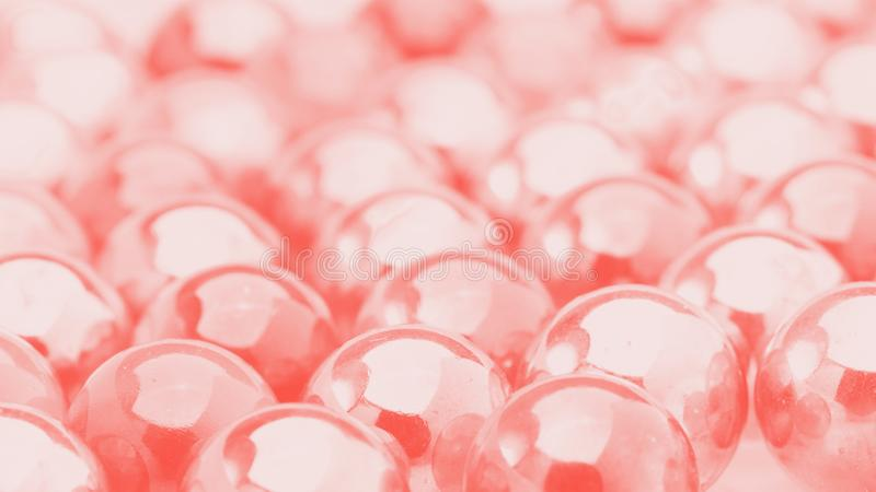 Bolas transparentes Abstracção Cor coral viva imagem de stock royalty free
