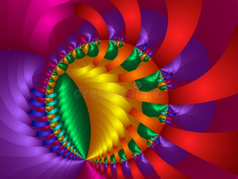 Bolas y cintas del arco iris ilustración del vector