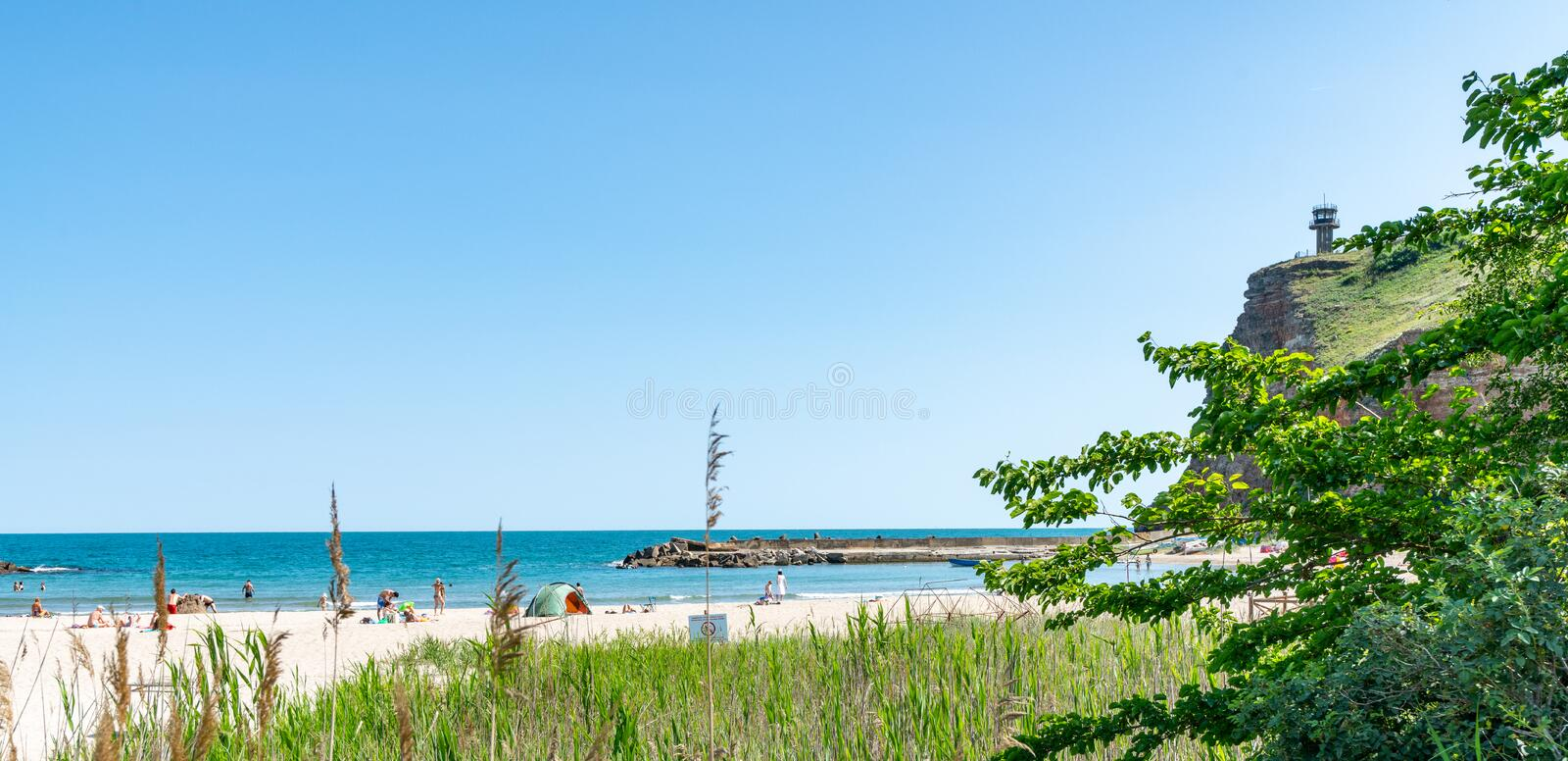 Bolata bay at the foot of Kaliakr cape in Bulgaria royalty free stock image