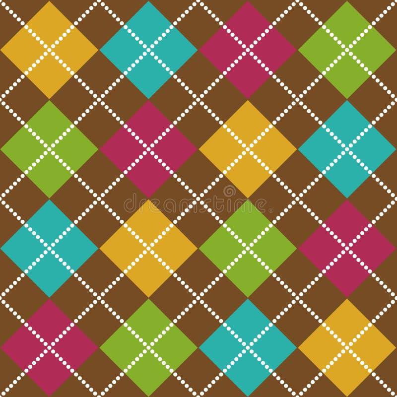 Bold Argyle Pattern royalty free illustration