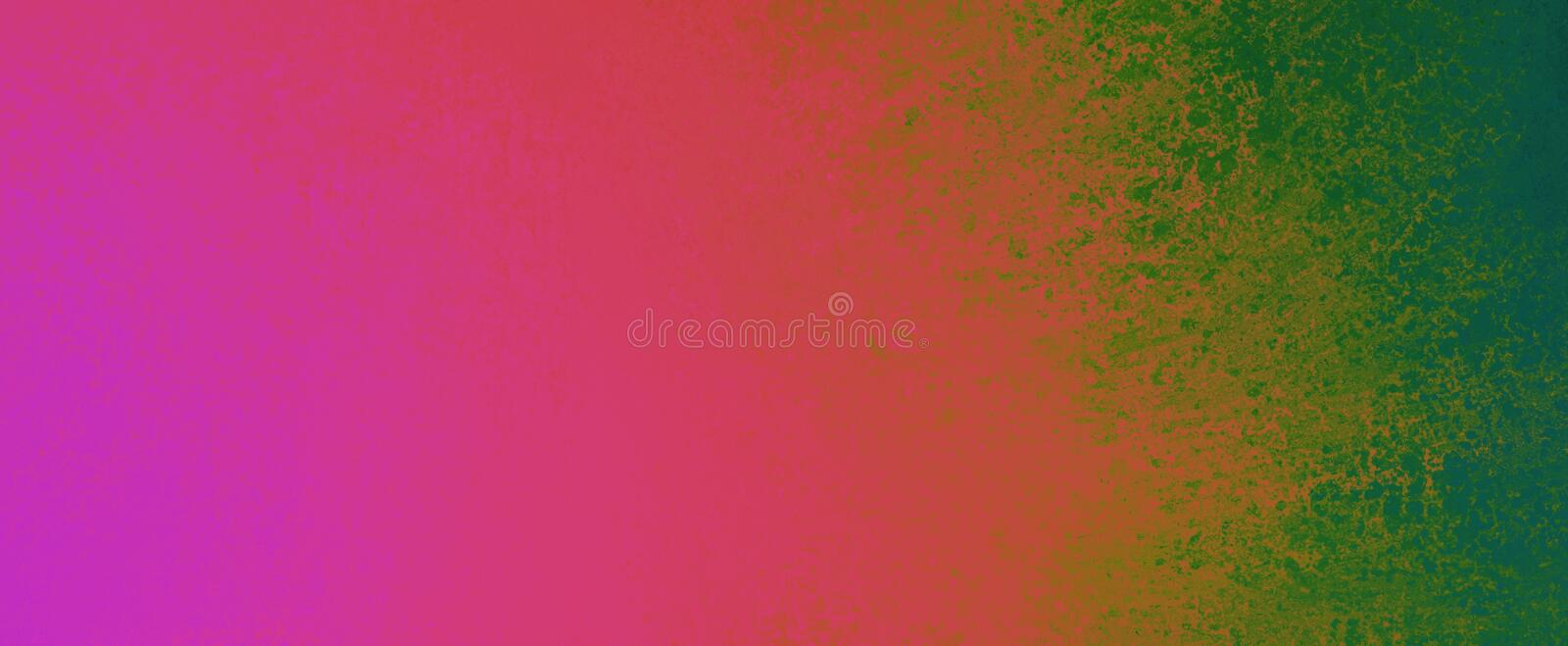 Bold background design with purple pink red and green sponged paint texture. In graphic art layout, creative fun and bright color abstract background royalty free illustration