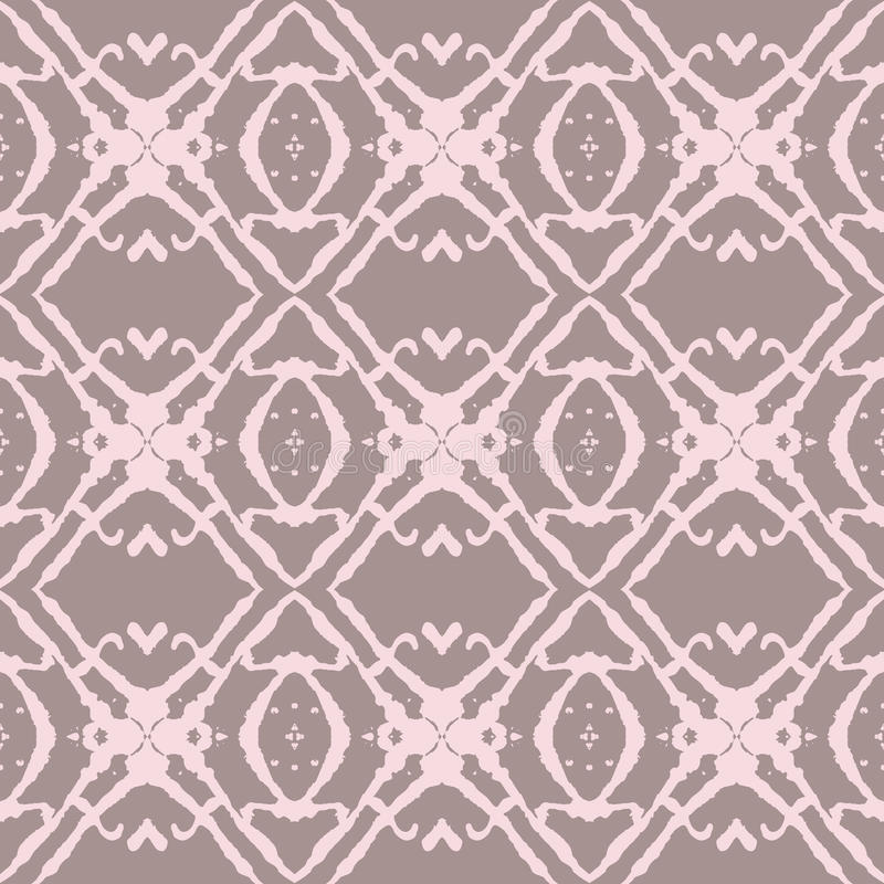Bold Beige and Pink Seamless Pattern. royalty free illustration