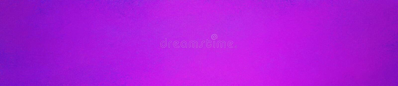 Bright purple pink background in panoramic rectangle design. Website header or panel with old vintage texture. Bold bright purple pink background in panoramic stock photography