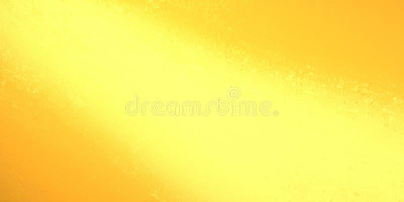 Bright yellow streak of light in diagonal down spotlight design on orange textured background in abstract illustration stock illustration