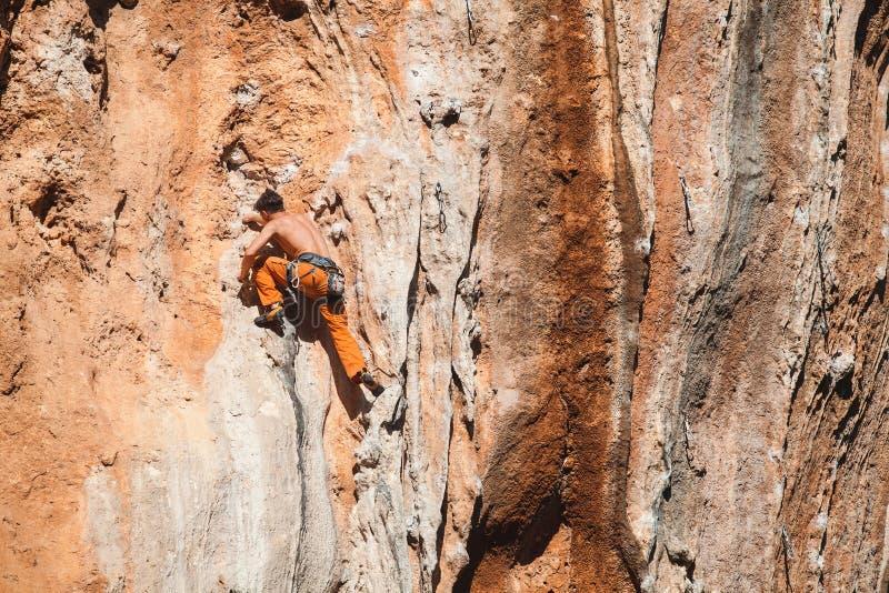 Bold choice - rock climbing royalty free stock image