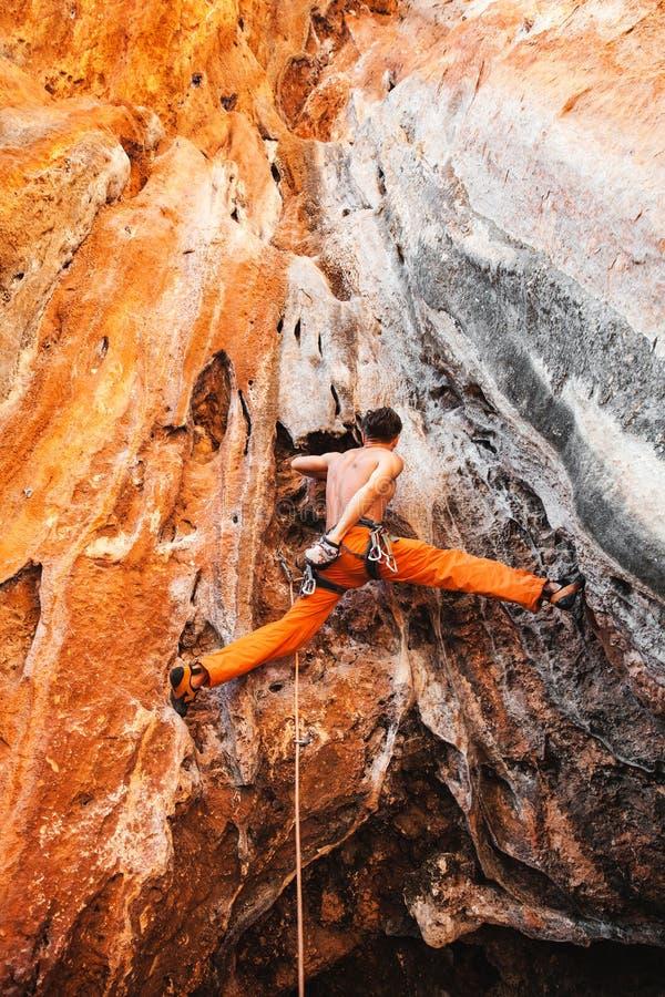 Bold choice - rock climbing royalty free stock photos