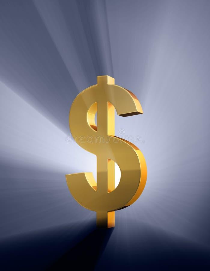 Download Bold Dollar stock illustration. Image of gold, illustration - 28519983