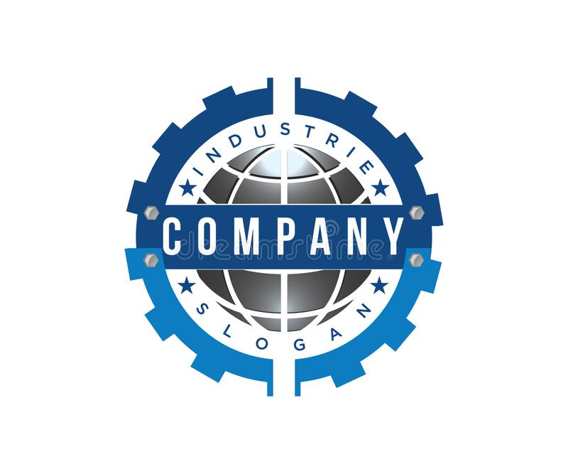 A bold logo for mechanical industry companies vector illustration