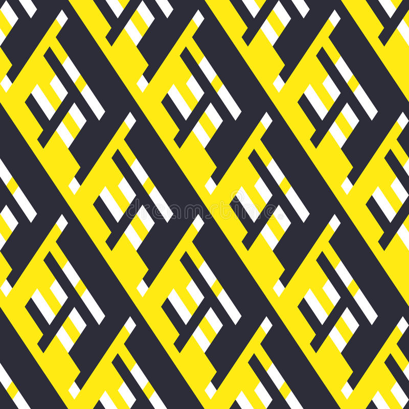 Bold pattern with architectural motifs royalty free illustration