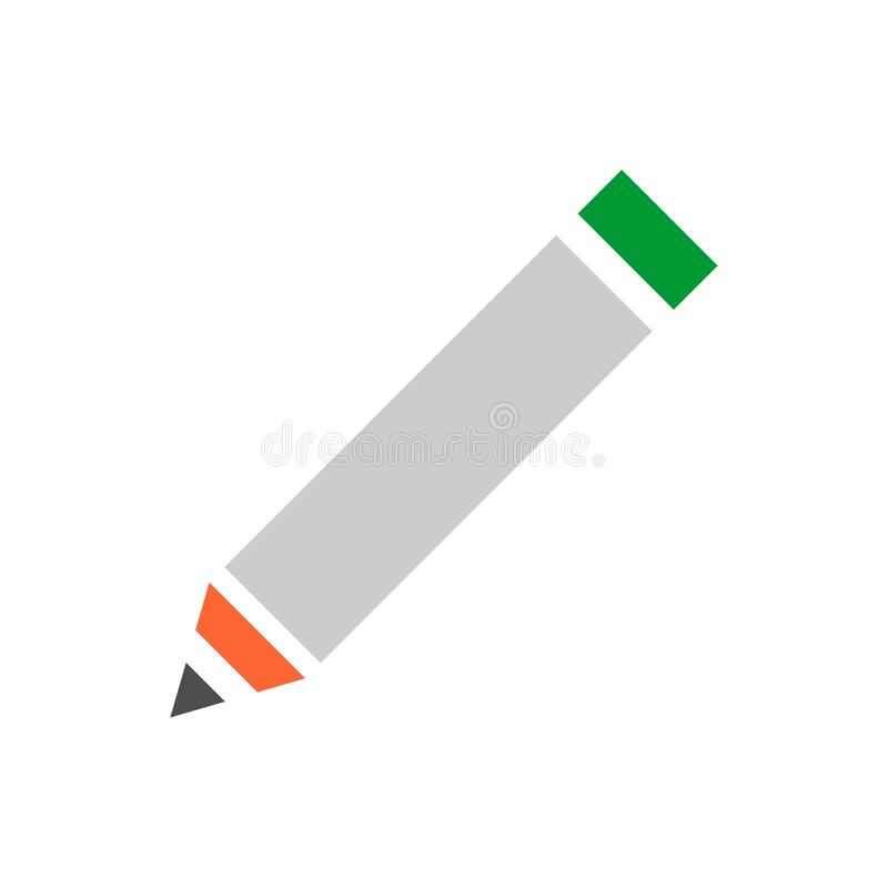 Bold pencil vector icon. Flat vector illustration for web design and mobile app. Pixel perfect vector graphics stock illustration