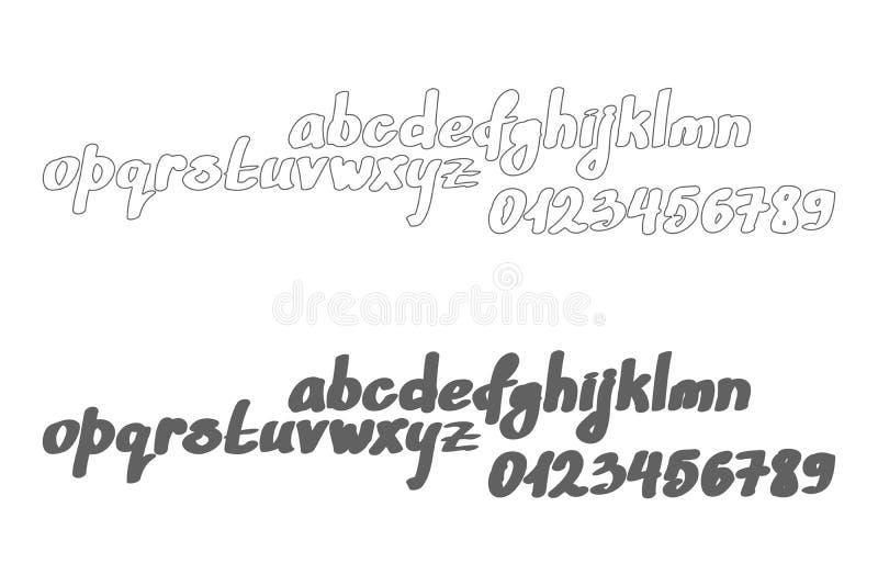 Download Bold Script Stock Vector Illustration Of Handwriting