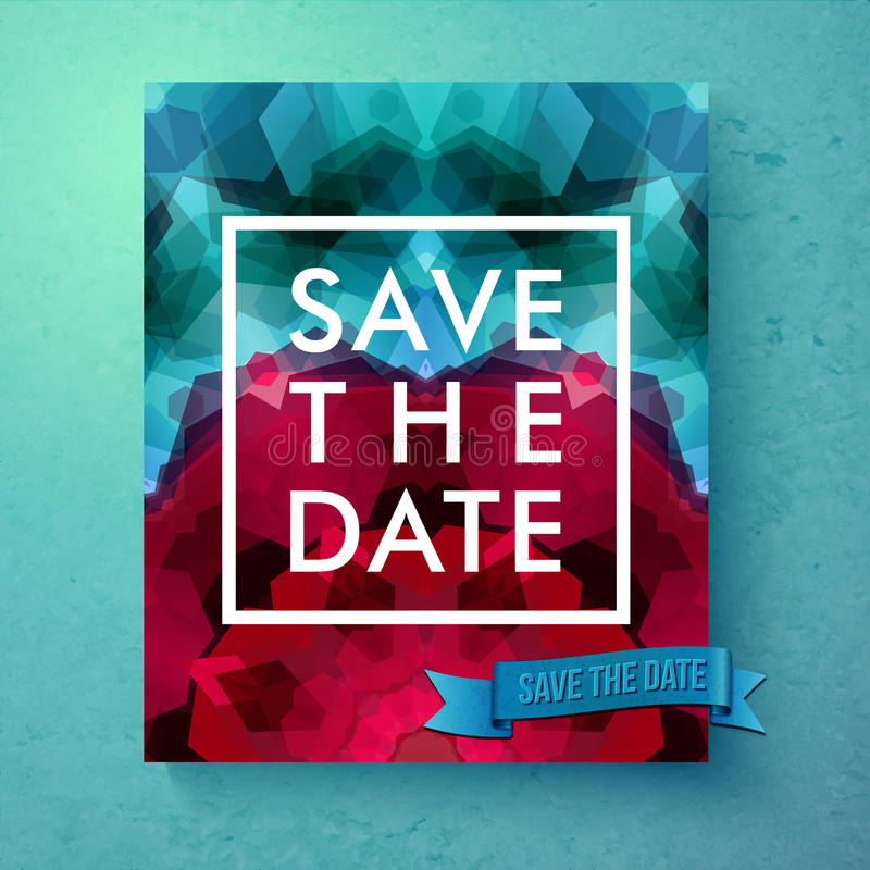 Bold simple Save The Date wedding template vector illustration