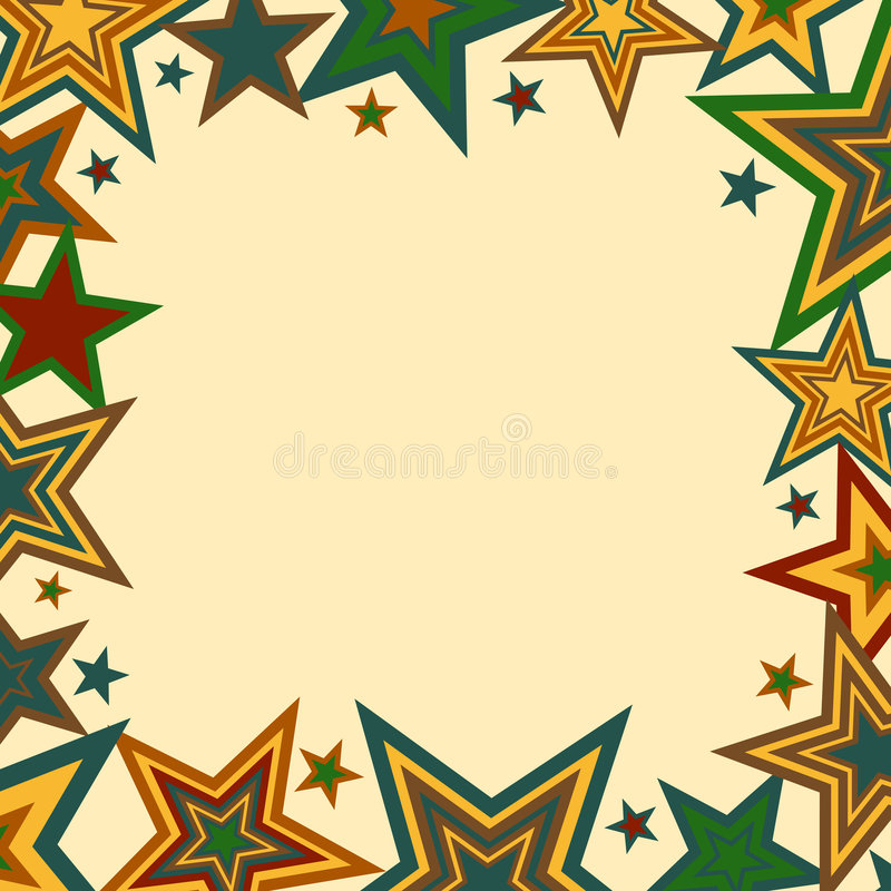 Bold Stars Border. A stars border illustration in fall colors vector illustration