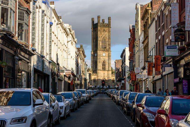 BOLD STREET, LIVERPOOL, Reino Unido fotos de archivo libres de regalías