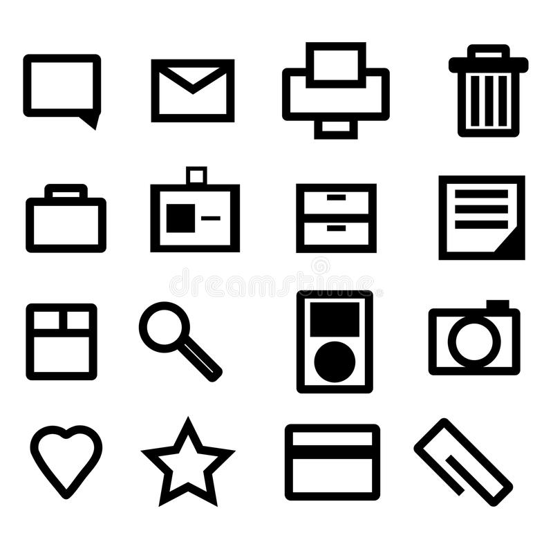 Free Bold Thick Point Business Icons Stock Photos - 9438403