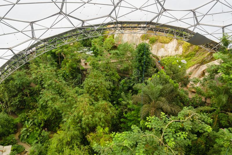 Eden Project Cornwall stock photography