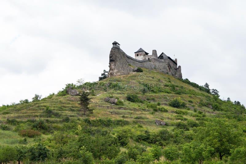 Boldogko城堡在小山顶的在匈牙利 库存图片