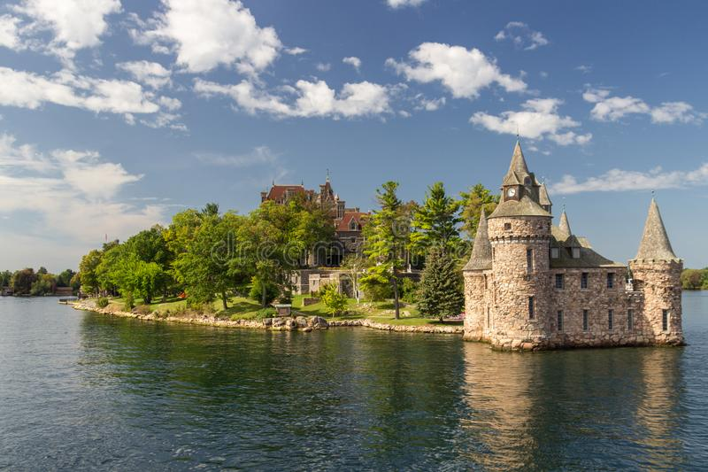 Boldt Castle Island in thousand islands Canada stock photo