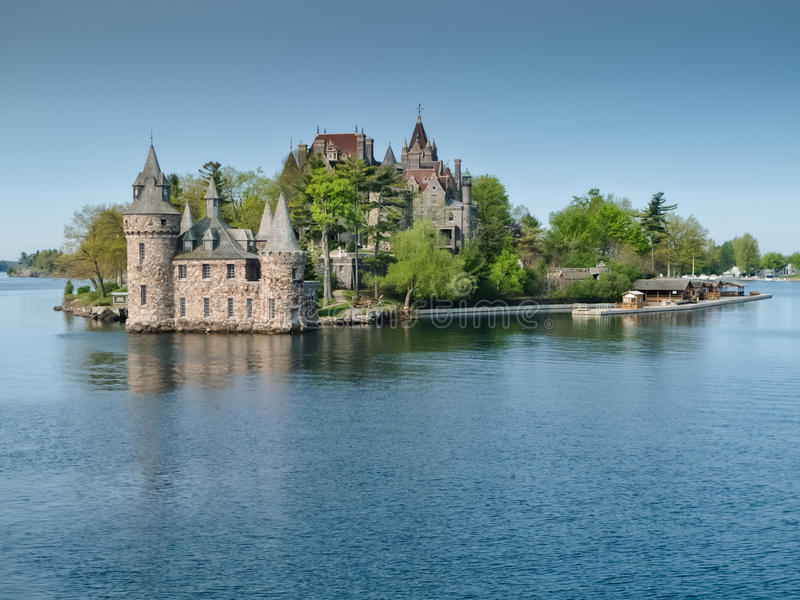 Boldt Castle and Power House on the St. Lawrence River, NY royalty free stock images