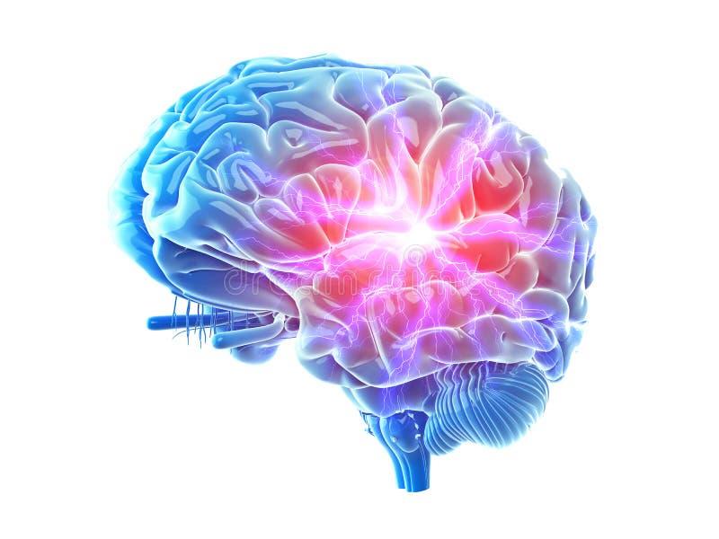 Bolesny mózg royalty ilustracja