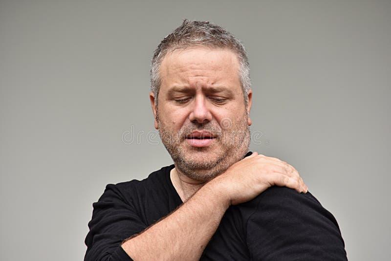 Bolesny Nieogolony Męski mężczyzna zdjęcie stock