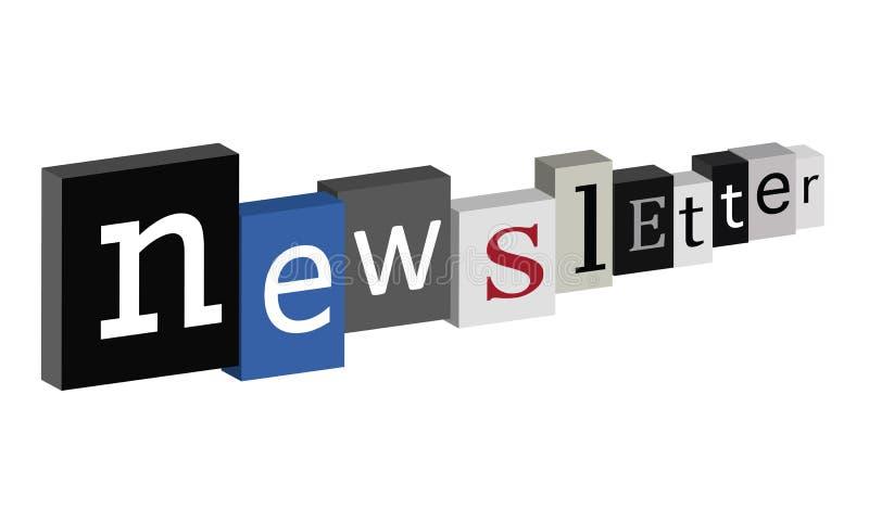 Boletín de noticias stock de ilustración